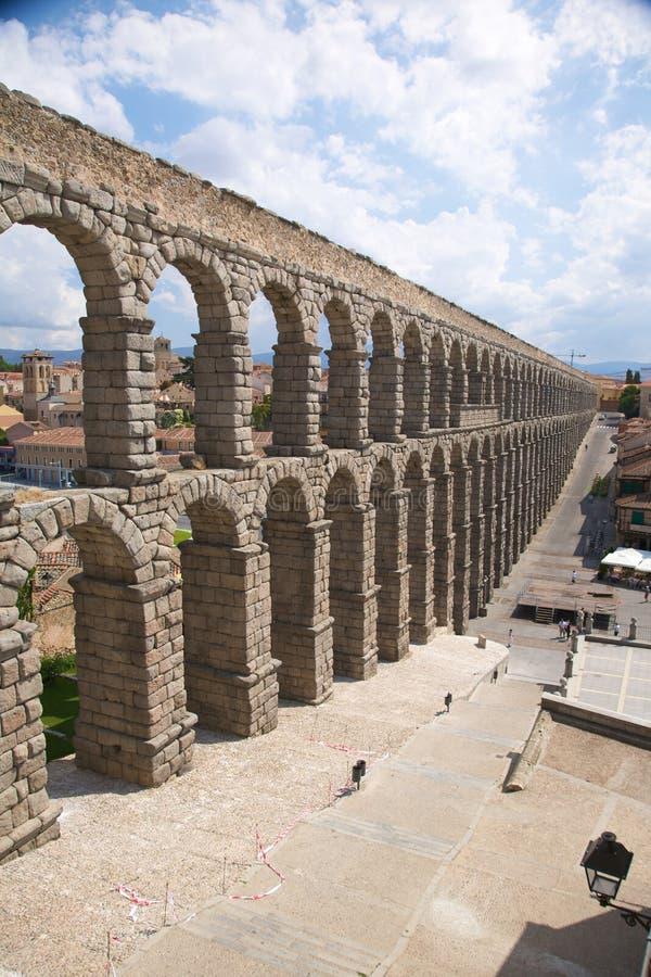 Great aqueduct of segovia city royalty free stock photography