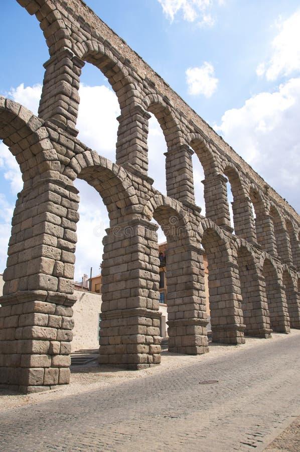 Great arcade of aqueduct royalty free stock photos