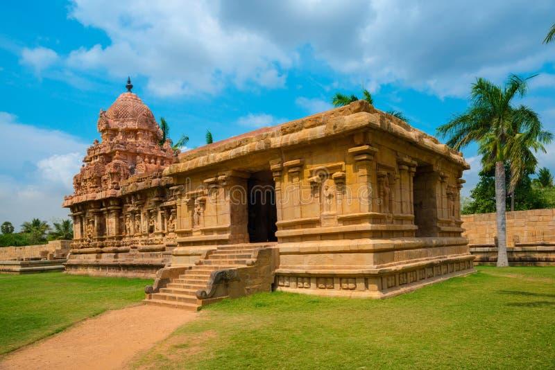 Great architecture of Hindu Temple dedicated to Shiva. Ancient Gangaikonda Cholapuram Temple, India, Tamil Nadu, Thanjavur (Trichy royalty free stock image
