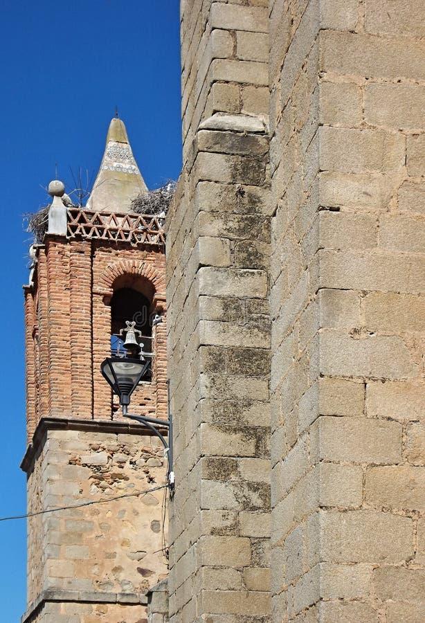 Historic church of la Coronada, Badajoz - Spain. Great architecture, typical style the church building of La Coronada, badajoz - Spain stock images