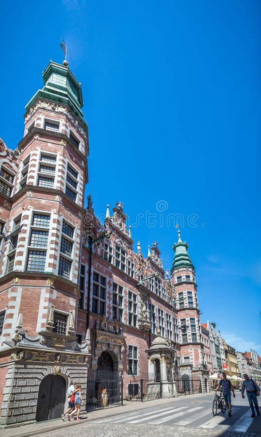 Great Armory in Gdansk, Poland stock photos