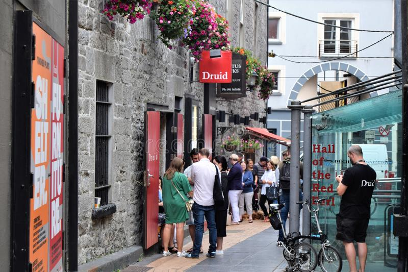 Great atmosphere in the centre of Galway City. royalty free stock photography