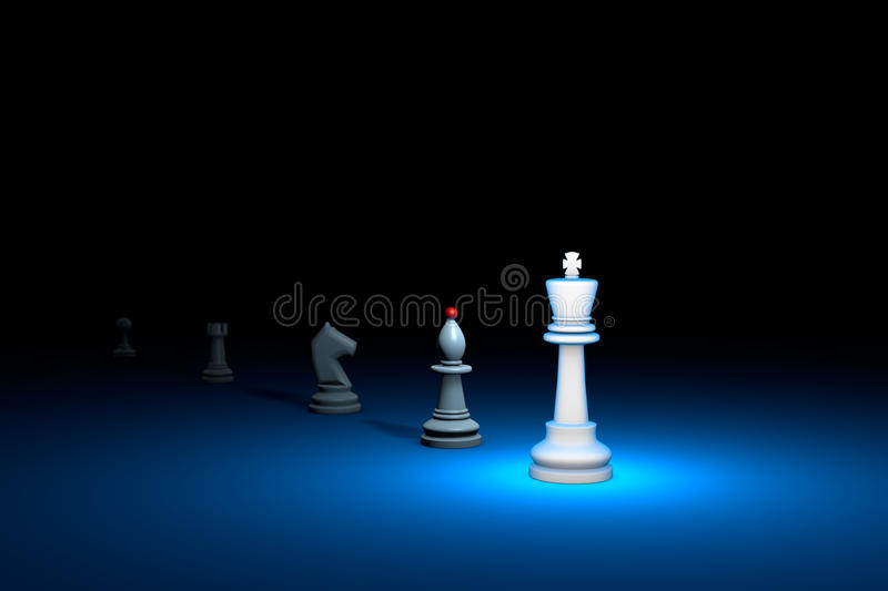 Great authority (chess metaphor). 3D render illustration. Free s. Career growth. Horizontal chess composition. Available in high-resolution and several sizes to vector illustration