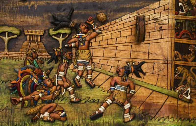 Great Ballcourt At Chichen Itza Stock Image - Image of mayan, sculpture: 27749139