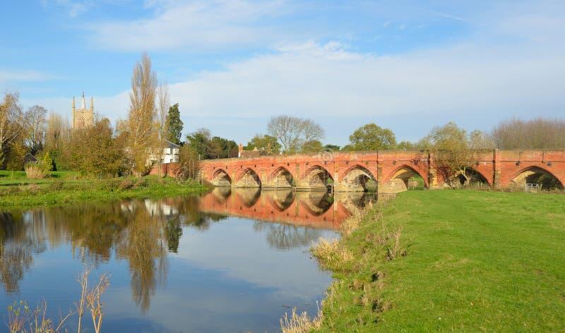 Great Barford Bridge stock photo