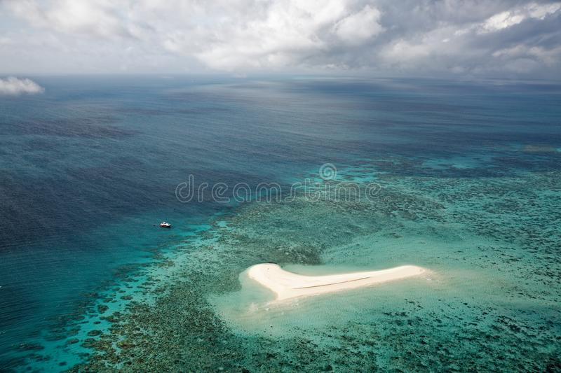 Aerial photography of the Great Barrier Reef stock image