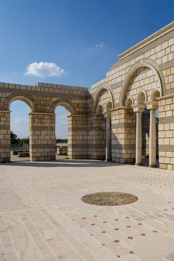 The Great Basilica in Pliska royalty free stock image