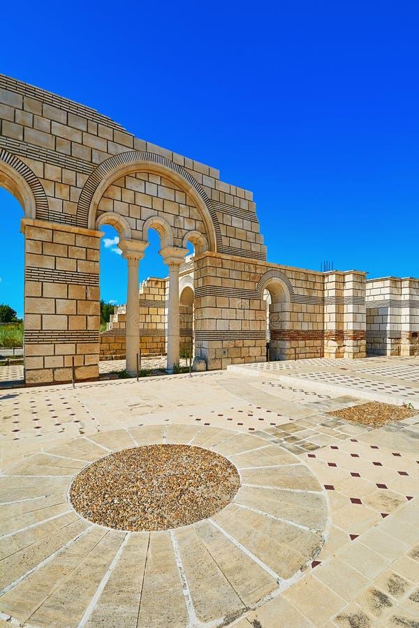 The Great Basilica in Pliska royalty free stock photography