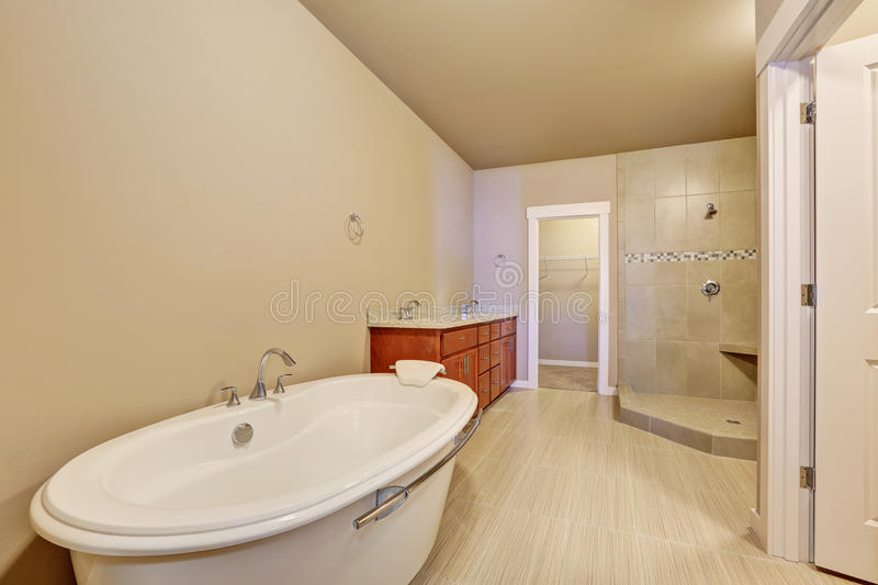 Great bathroom interior in brand new house. stock photos