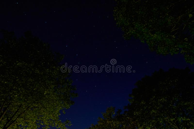 The Great Bear nightscape stock image