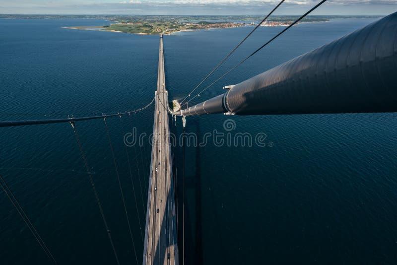Great Belt Bridge in Denmark.  stock photo