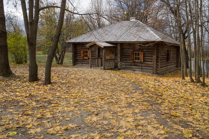 Great Boldino. Wooden bath in the museum reserve Pushkin. Boldino, Pushkin State Memorial Museum and Natural Resrve (Manor) Boldino is one of the most remarkable royalty free stock photos