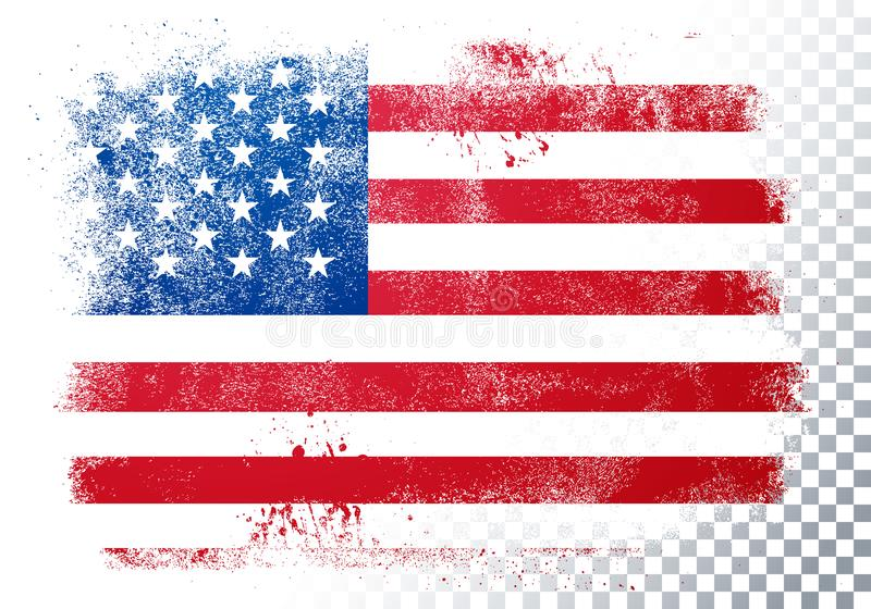 Vector Illustration vintage grunge texture flag of usa royalty free illustration