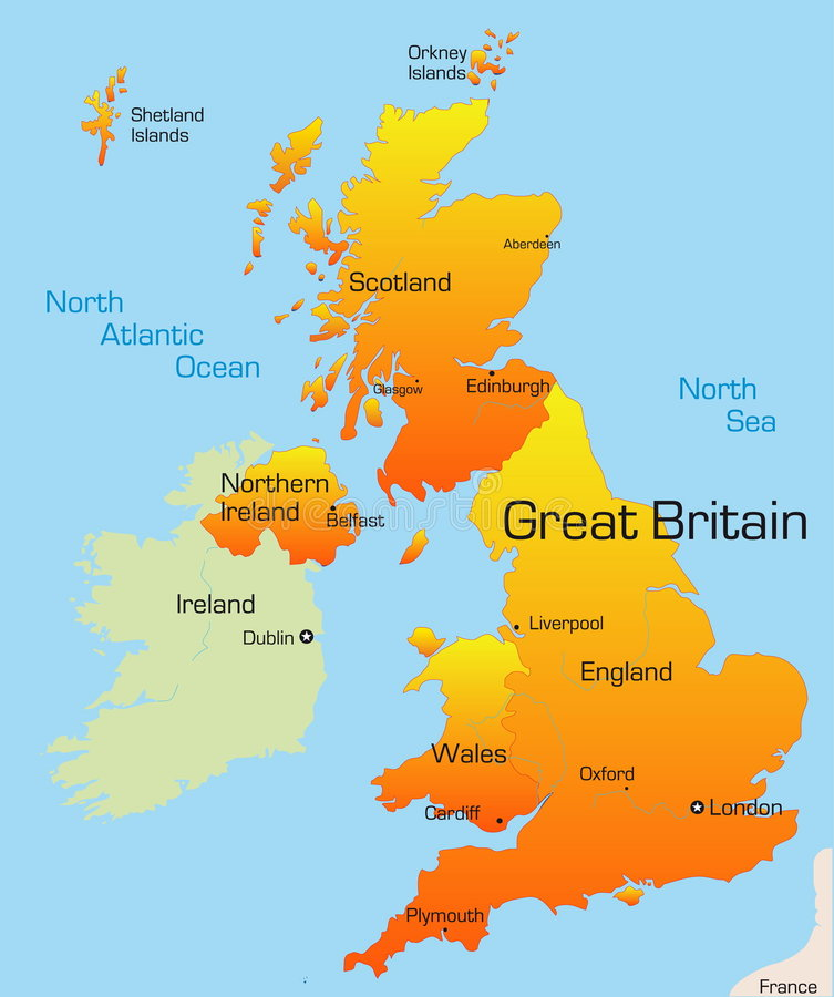 Great Britain. Abstract vector color map of Great Britain country