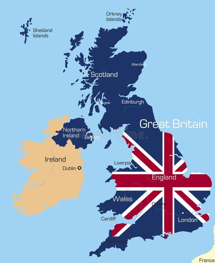 Great Britain royaltyfri illustrationer