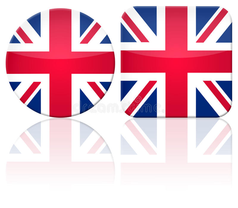 Download Great Britain button flag stock illustration. Image of beautiful - 9457401