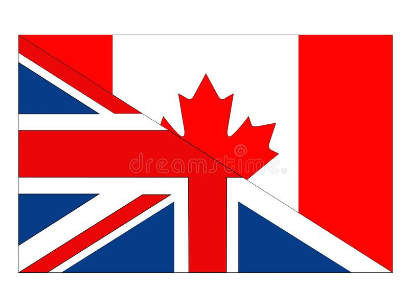 Great Britain and Canada flags. Vector file of Great Britain and Canada flags vector illustration