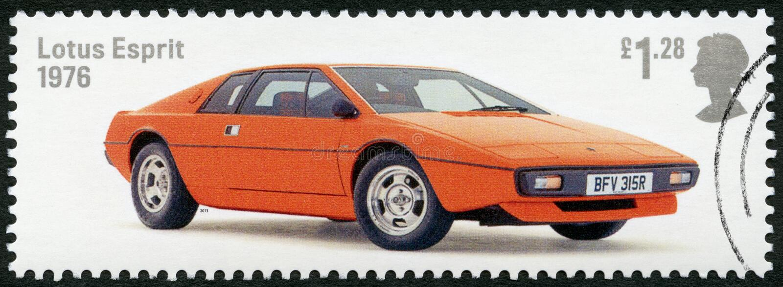 GREAT BRITAIN - 2013: shows Lotus Esprit 1976, series British Auto Legends royalty free stock photography