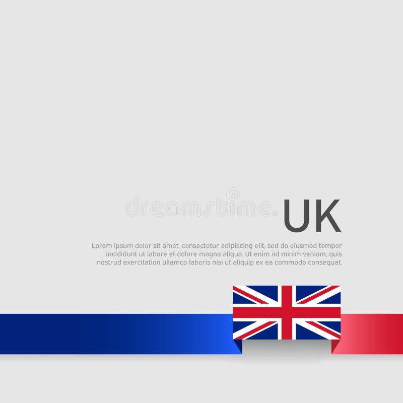 Great Britain flag background. Ribbon colors of the flag of great britain on a white background. Poster of united kingdom. Great Britain flag background. Ribbon royalty free illustration