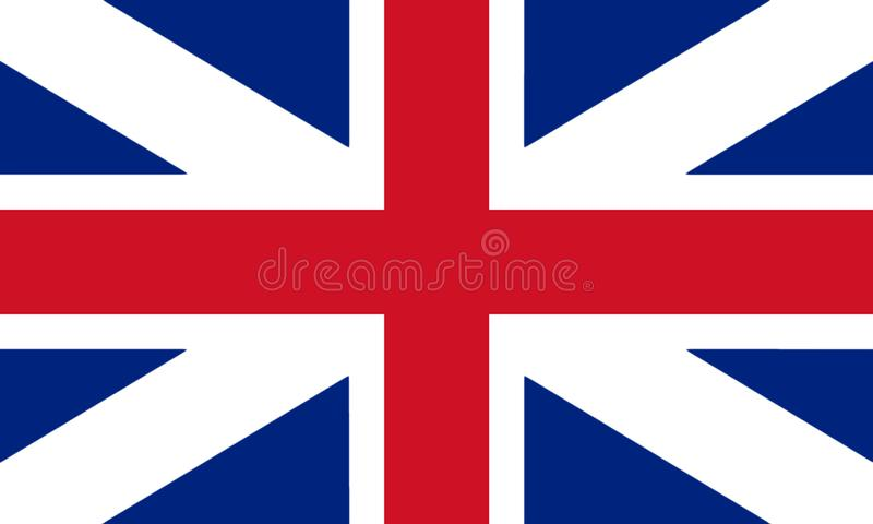 Great Britain Flag King`s Colours. Civil and State Ensign 3D ill vector illustration