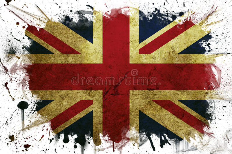 Download Great Britain flag paint stock illustration. Image of rust - 15823353