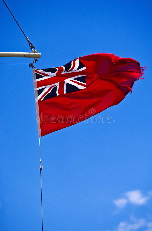 Great Britain marine flag stock images