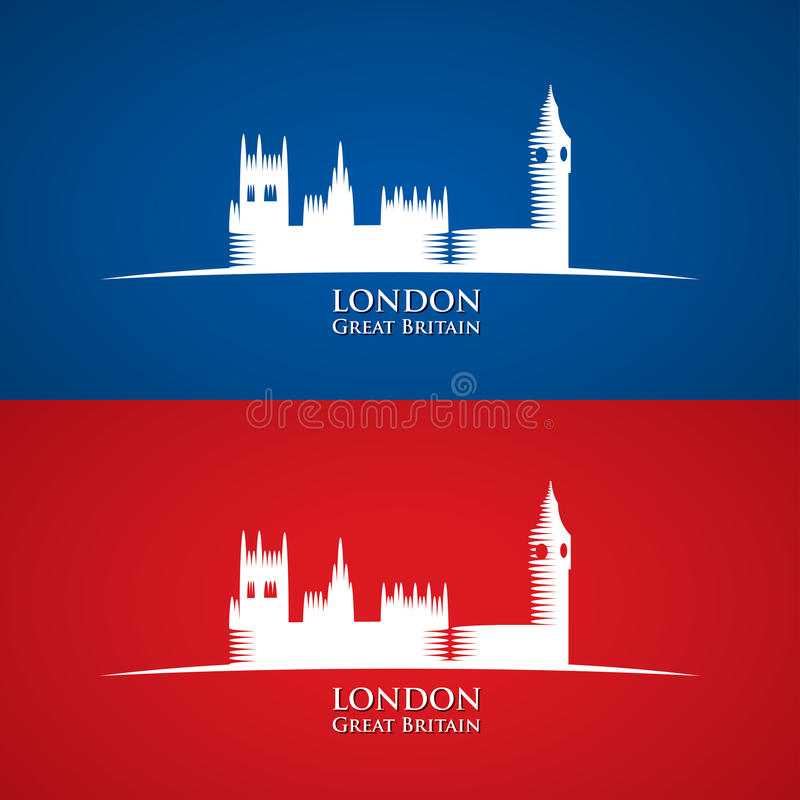 Great Britain Parliament symbol. Vector illustration of Great Britain Parliament stock illustration