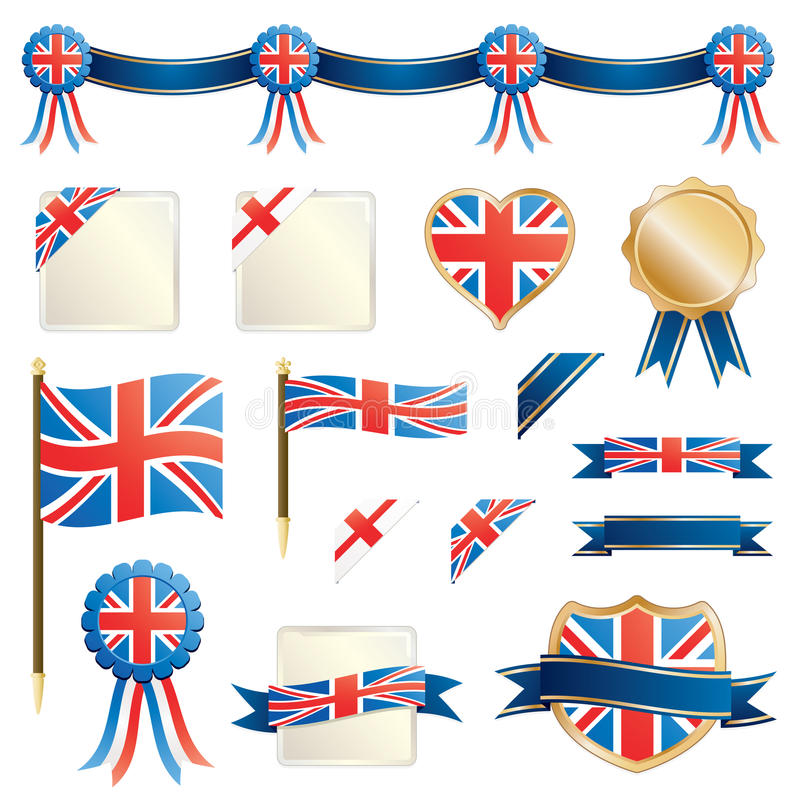 Download Great Britain Ribbons And Seals Stock Vector - Illustration: 19233960
