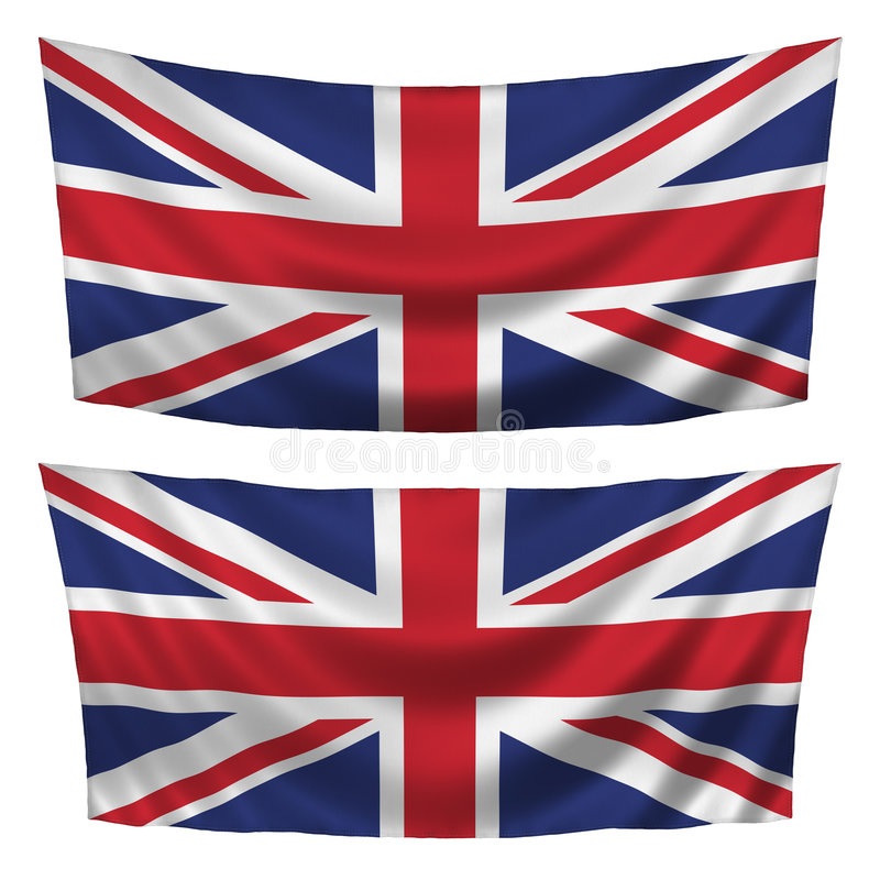 Great Britain Textured Horizontal Flags Royalty Free Stock Images