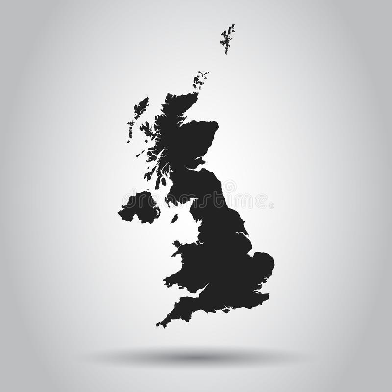 Free Great Britain Vector Map. Black Icon On White Background. Stock Photos - 110813183
