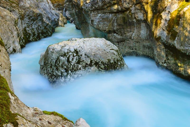 Great canyon of Soca river, Slovenia royalty free stock photos