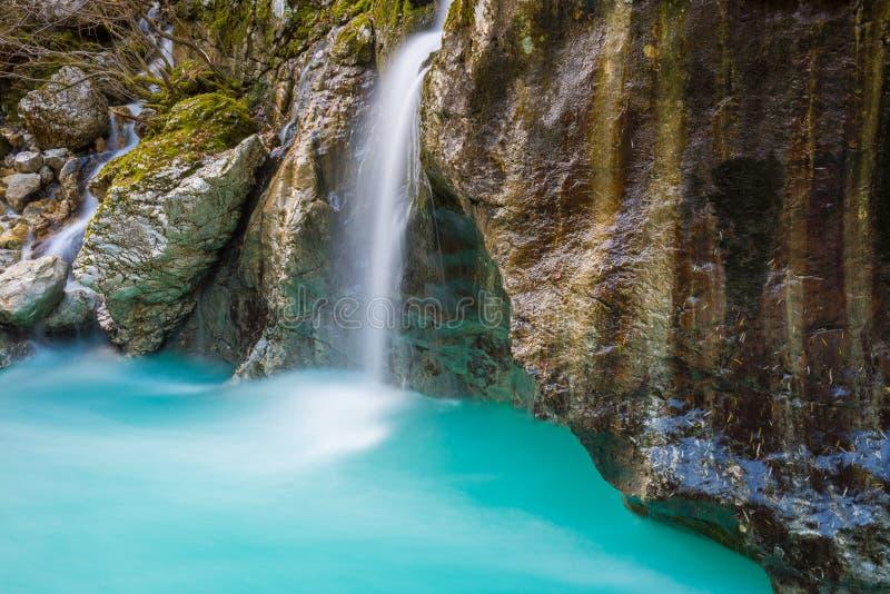 Great canyon of Soca river, Slovenia stock photography