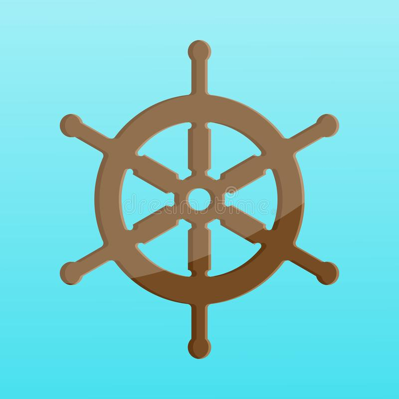 Great cartoon Ship wheel. Beautiful cartoon-shaped Ship wheel. Great cartoon Ship wheel image vector illustration
