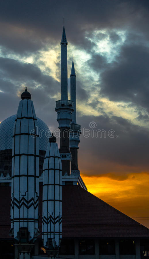 Great Central Java Mosque stock image