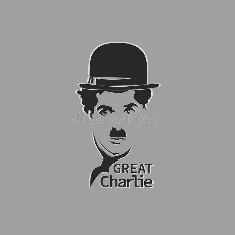 Great Charlie. Image stencil on a gray background. Design for printing on paper, textiles or design of a thematic poster, brochures, leaflets vector illustration