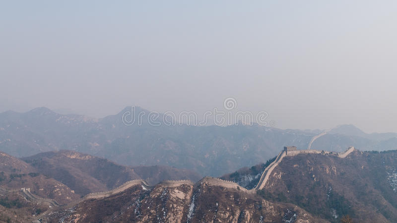 Great China Wall In Haze Free Public Domain Cc0 Image