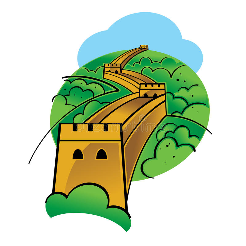 great chinese wall stock vector illustration of isolated 18824392 rh dreamstime com great wall of china clipart border free clipart great wall of china