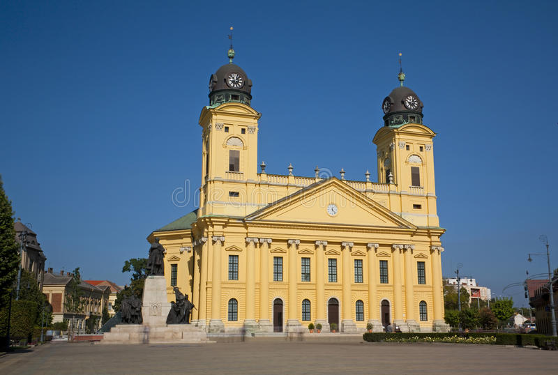 Download Great Church Debrecen Hungary Stock Photo - Image of colourful, yellow: 21417544