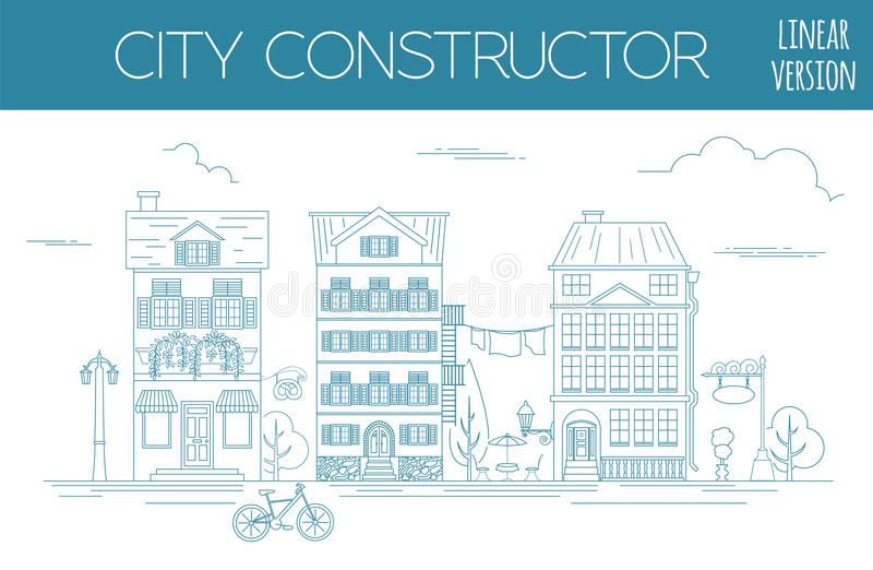 download great city map creator outline version house constructor hous stock vector - House Map Creator