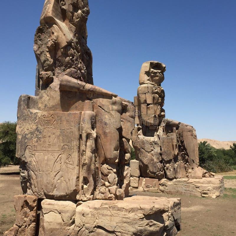 The great collossi of Memnon stock image