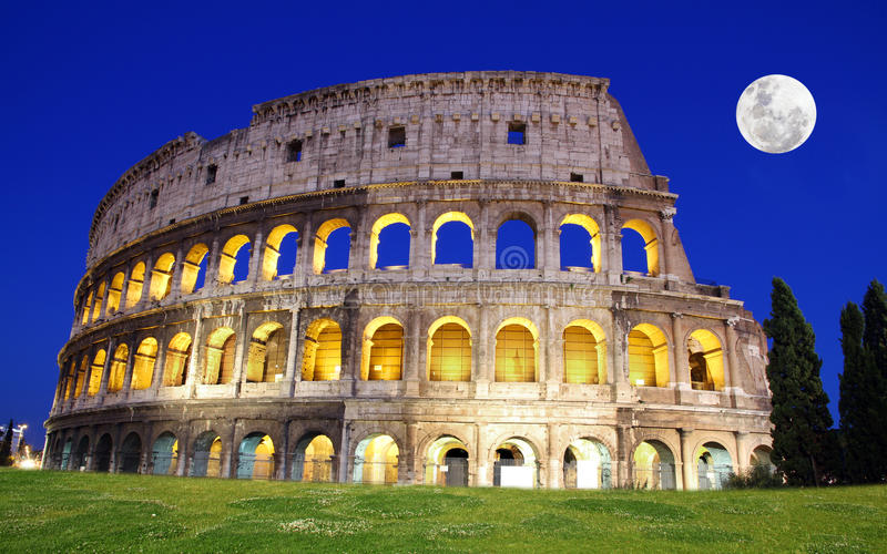 Great Colosseum at dusk, Rome, Italy. The Great Colosseum at dusk, Rome, Italy stock photo