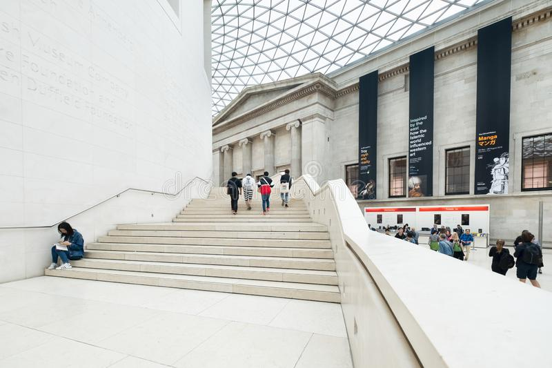 The Great Court at the British Museum in London stock photos