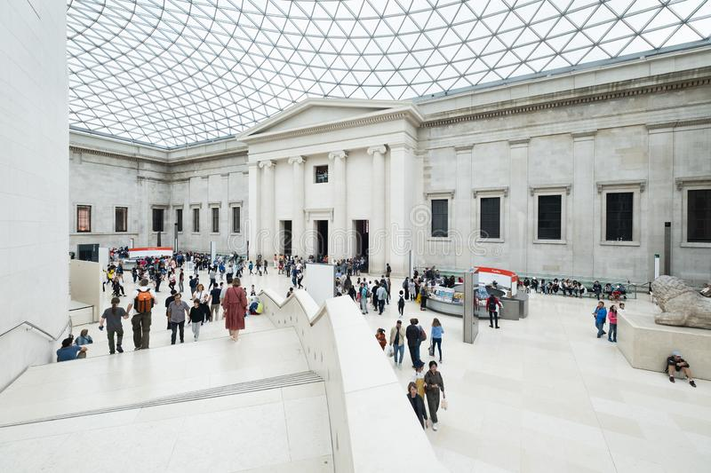 The Great Court at the British Museum in London stock photography