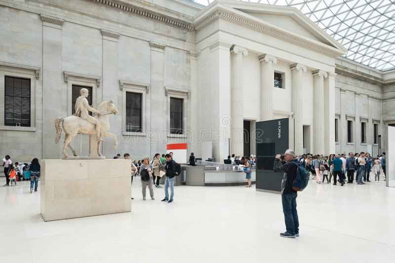 The Great Court at the British Museum in London stock image