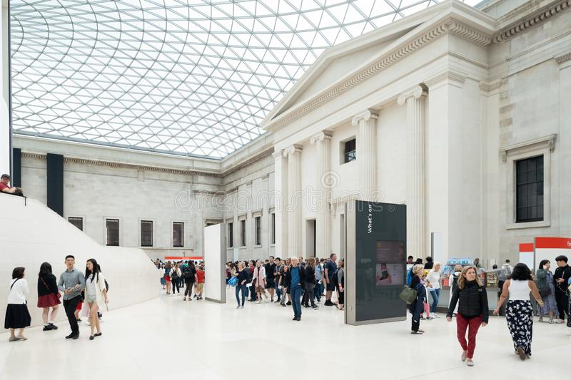 The Great Court at the British Museum in London royalty free stock photo