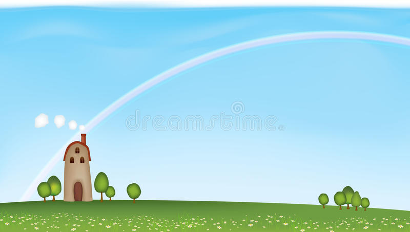 Download Great Day stock vector. Image of rainbow, dream, seasonal - 24938042