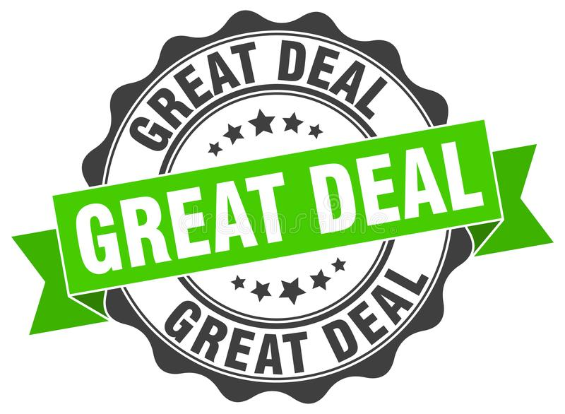 Great deal seal stock illustration