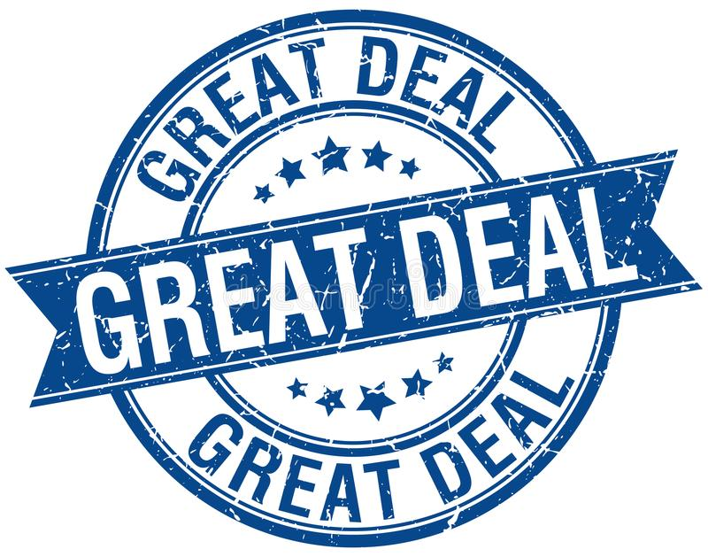 great deal stamp stock illustration