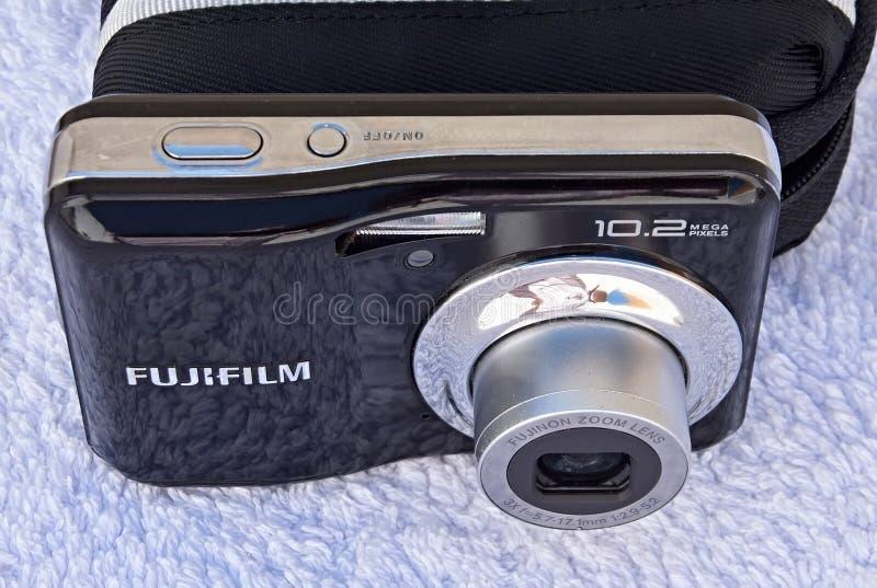 Modern Fujifilm Finepix J digital compact camera. Great digital camera model .High quality compact model with zoom lens stock photos