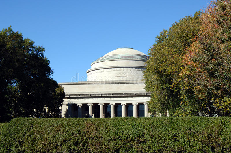 Great Dome of MIT in Boston stock image